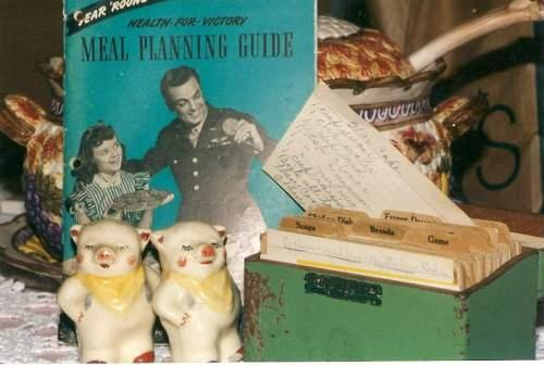 1940s cookbook and recipe box